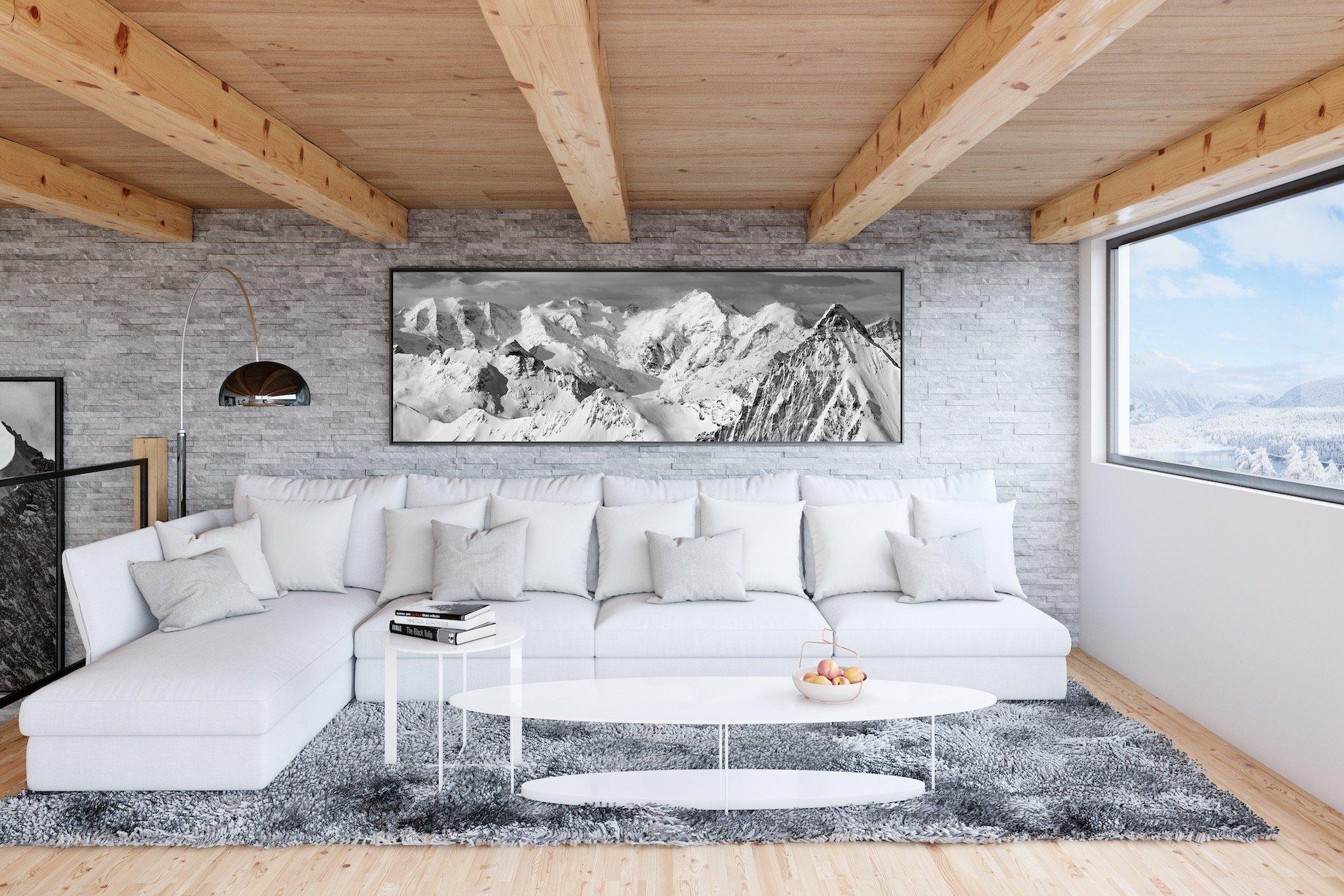 Décoration d'un salon de chalet à St Moritz