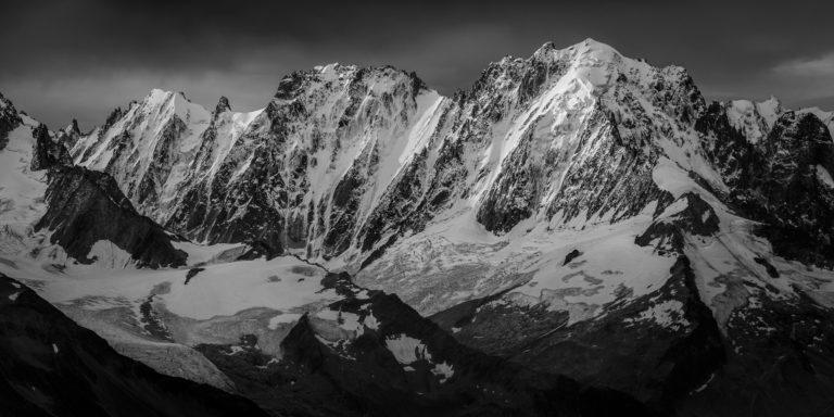 Photo massif mont blanc - Aiguille Verte, Droites, Courtes