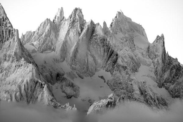 Image de montagne - Photo montagne neige aiguilles de chamonix - Photos alpes