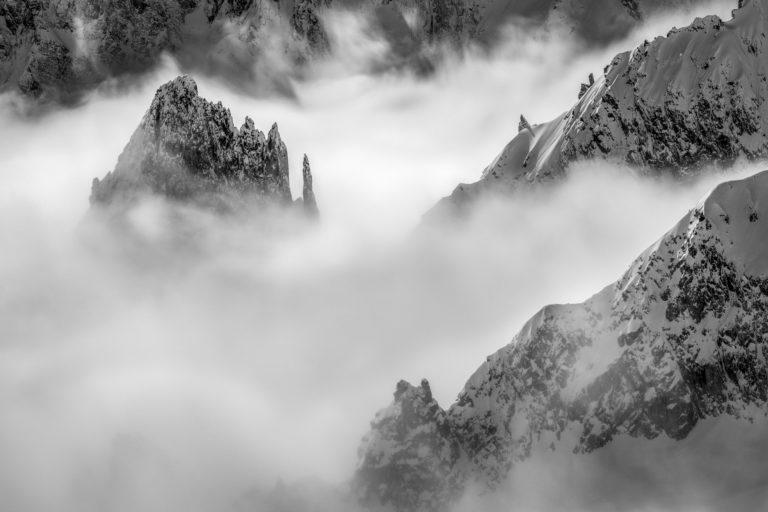 Photo massif Mont Blanc - Photo de montagne - La Brenva