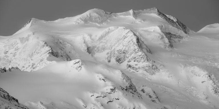Engadine grisons - Image noir et blanc montagne Bellavista - Alpes Suisses