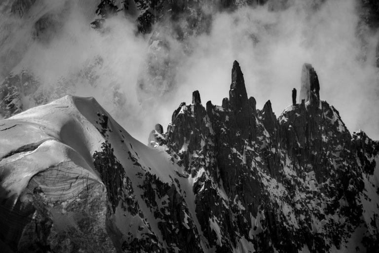 Photo du mont blanc - Massifs des Alpes - Castle Rock - Arrête de la Brenva