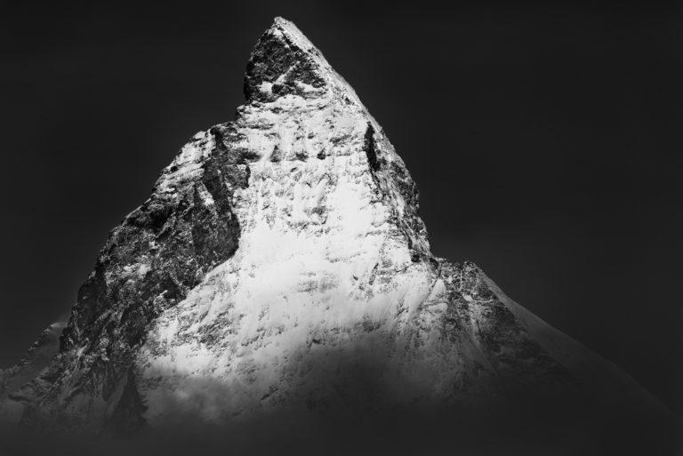 Mont Cervin - Photo Matterhorn - Photo Cervin noir et blanc
