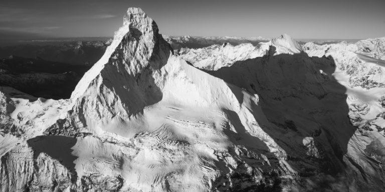 Mont Cervin - Encadrement photo professionnel d'une vue panoramique montagne