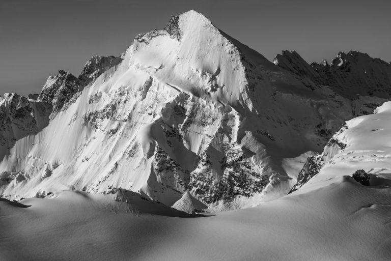 Val d hérens - Dent d'Hérens - image de montagne- Vue du Theodulpass