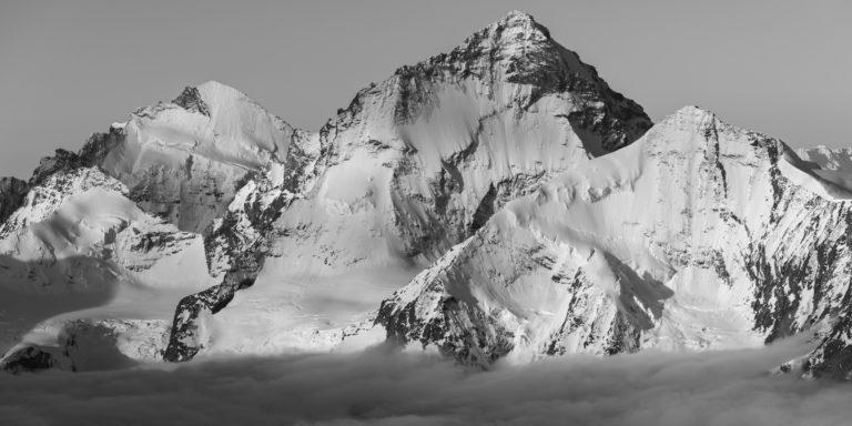 photo paysage montagne Val d'Anniviers - Dent d'Hérens - Dent Blanche - Grand Cornier