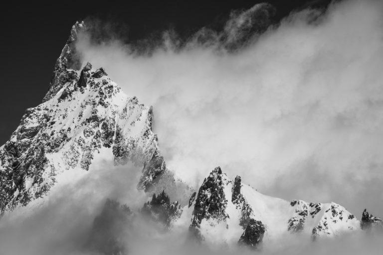 Photo Mont-Blanc -Photo Alpes dent du Géant Vue de la Pointe Helbronner