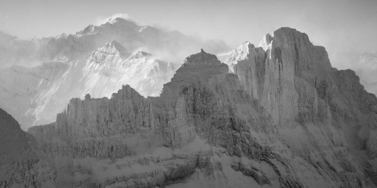 photo panoramique dents du midi - mont blanc