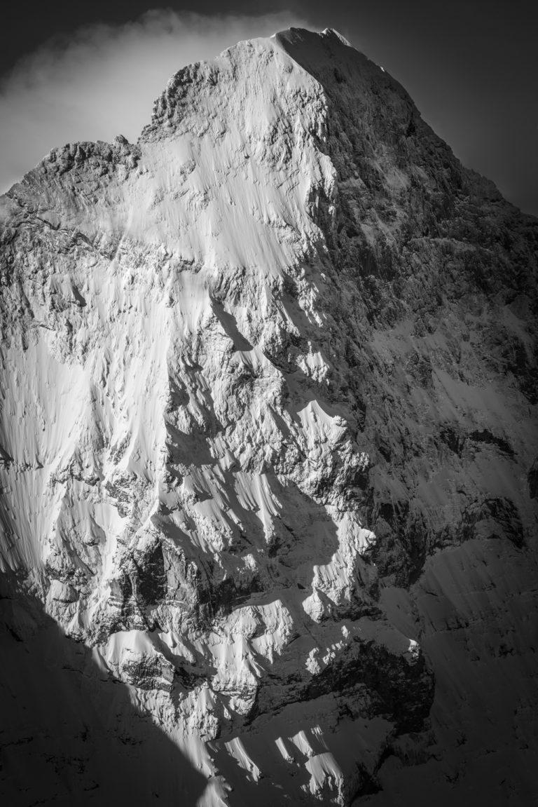 Photo Eiger noir et blanc face nord