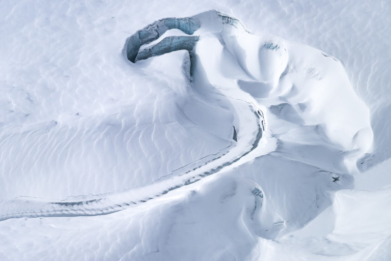 Glacier des Alpes - Gornergletscher - Zermatt - Photo de neige en montagne des moulins du Gorner en Hiver