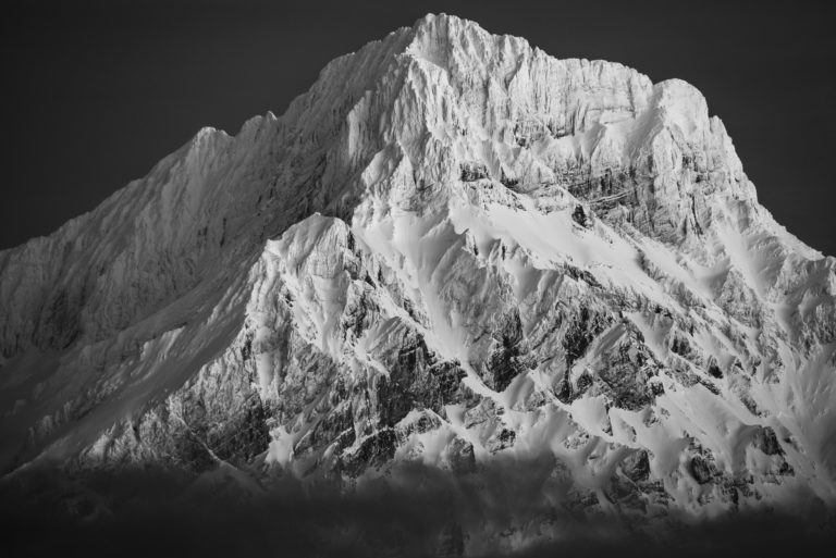Grand Muveran - Photo de montagne des alpes pour décoration intérieur chalet