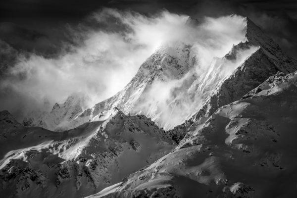 Image montagne neige - Grande Dent de Veisivi, Dent de Perroc, Pointe des Genevois