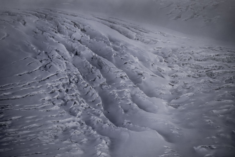 Photo glaciers des alpes - Crevasses du Grenzgletscher sous le Lyskamm