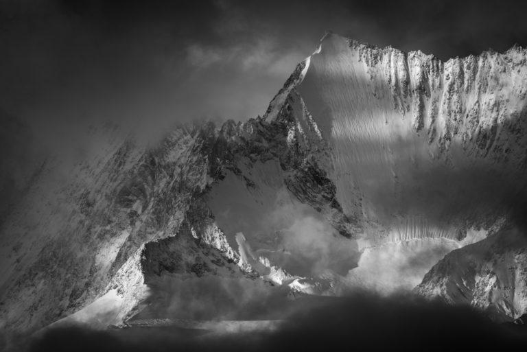 Photo montagne Vallée de Saas-Fee - Photo Alpes Valais Suisse - Lenzspitze vu du Saastal