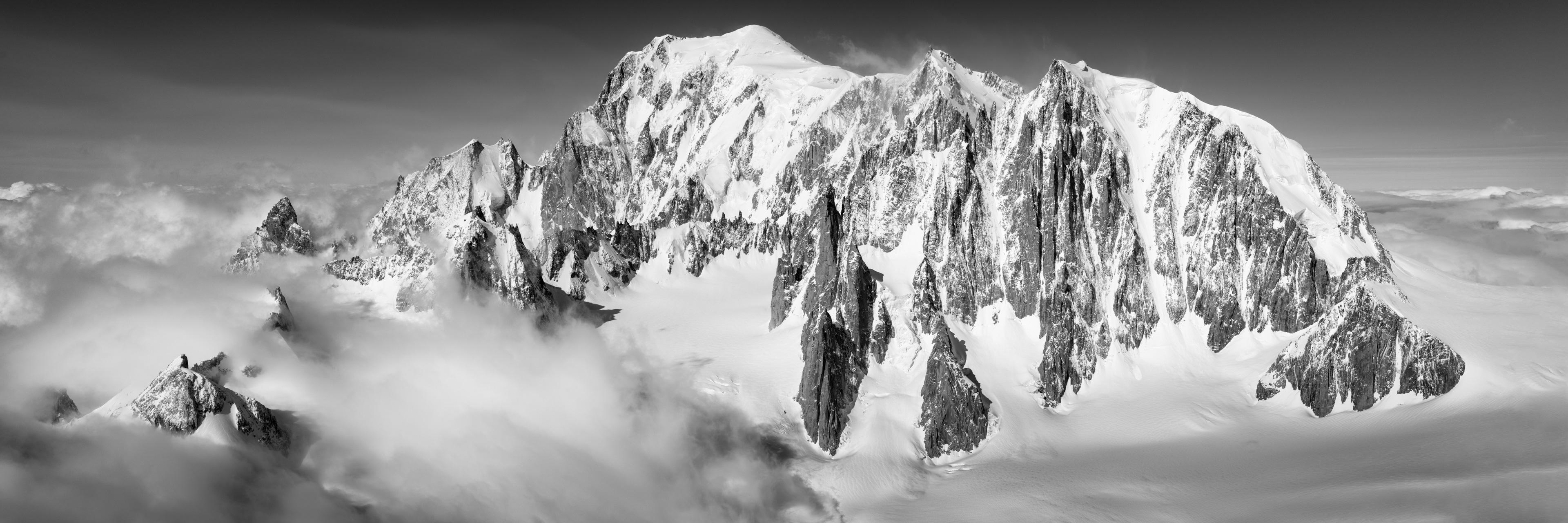 panorama sommet mont blanc photo paysage montagne