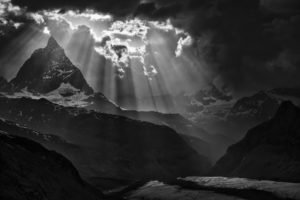 Mont Cervin Matterhorn suisse depuis le glacier du Gorner