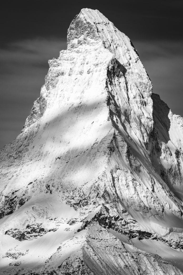 Photo Cervin Matterhorn Zebra vu depuis le Rothorn - Zermatt