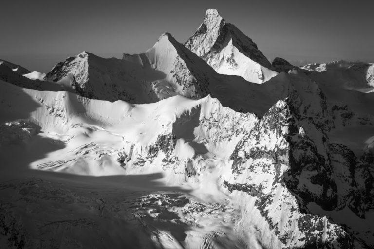 Image montagne du Val d'Anniviers -Obergabelhorn - Cervin - Blanc de Moming - Besso