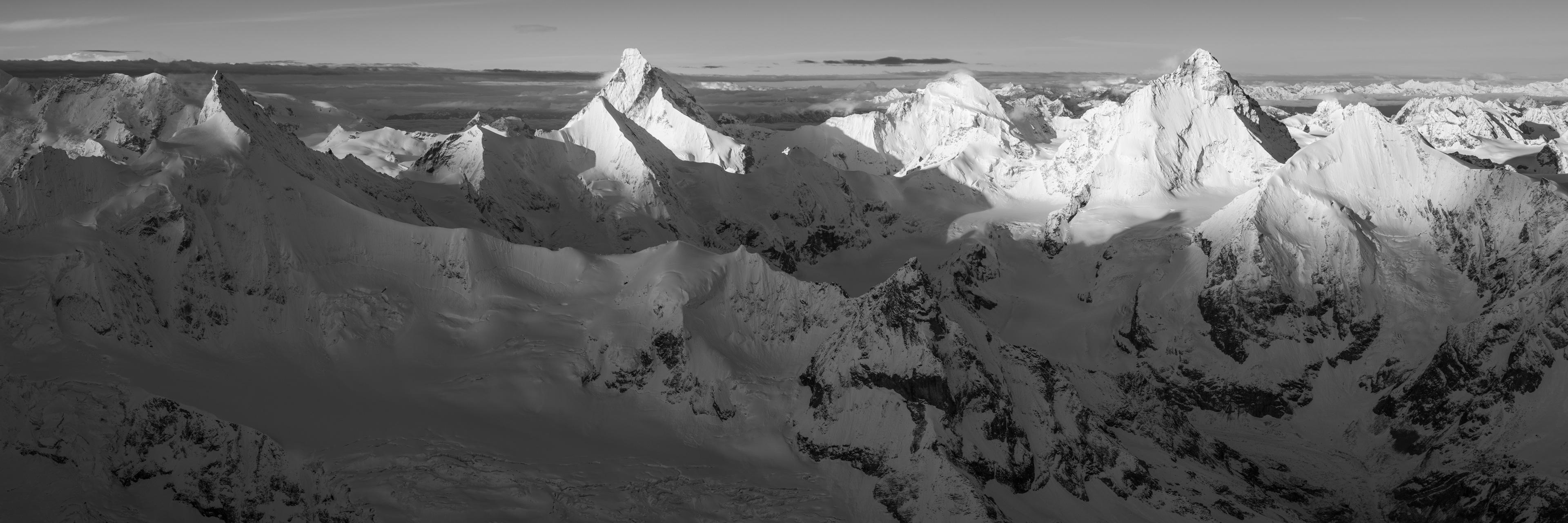 Photo encadrée couronne impériale de Zinal - déco ambiance chalet de montagne