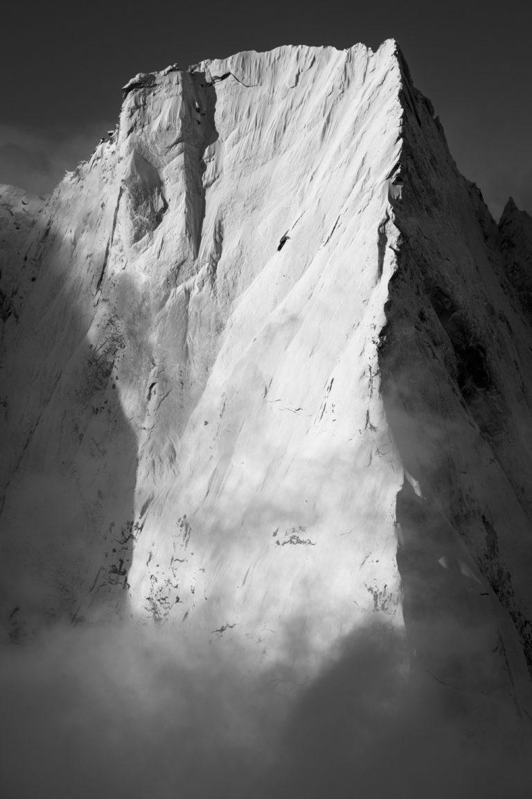 Engadine photos - image noir et blanc Cassin Piz Padile - Alpes Suisses