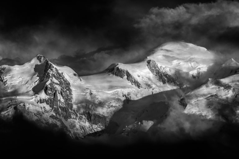 Mont Blanc - Photo massif du Mont Blanc et Mont Maudit Alpes -