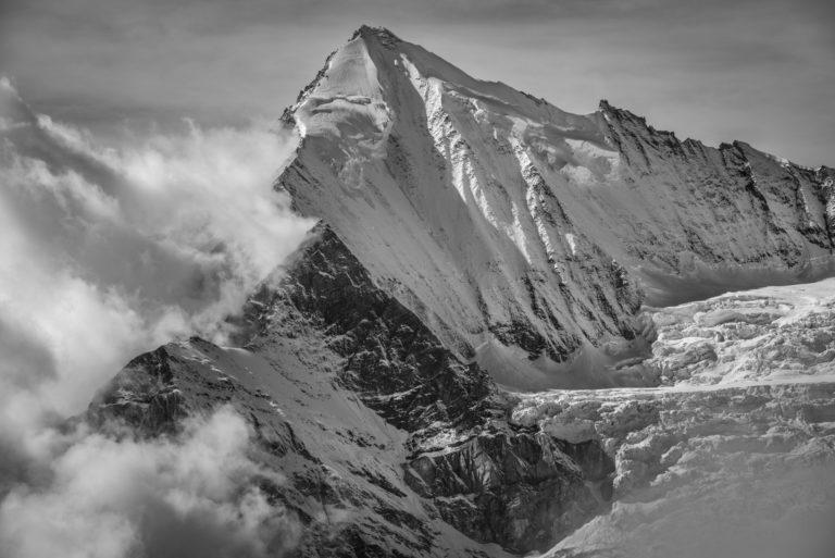 Image montagne Weisshorn vu de Zermatt - Crans Montana