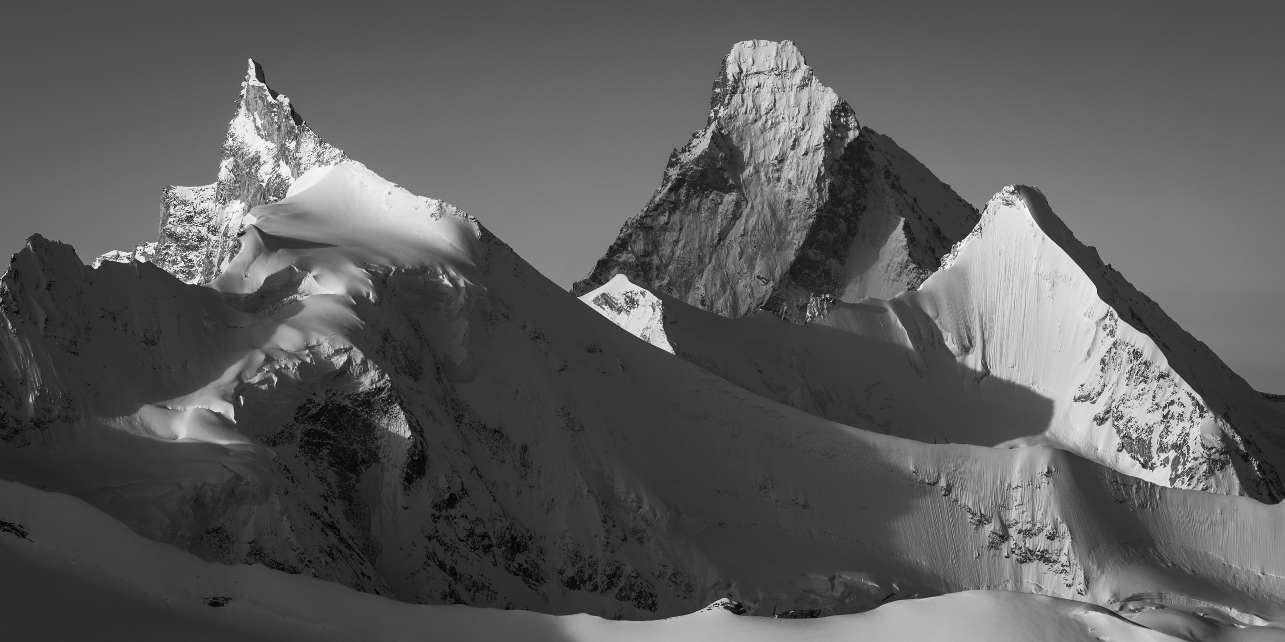 Massif des alpes suisses Val d'Anniviers - photo paysage montagne Zinalrothorn - Cervin - Obergabelhorn