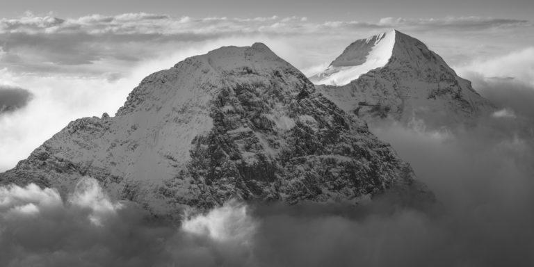 Eiger photos face nord - eiger monch - mer de nuage montagne